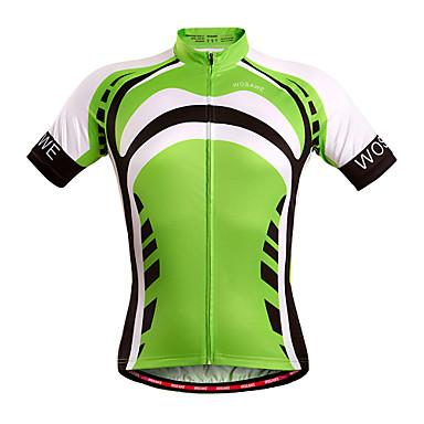 WOSAWE Krótki rękaw Koszulka rowerowa Rower Koszulka, Quick Dry, Oddychający Poliester, Spandeks