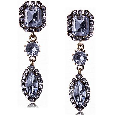 드랍 귀걸이 크리스탈 진술 보석 패션 고급 보석 보석 모조 다이아몬드 합금 드롭 스크린 컬러 보석류 용 2pcs