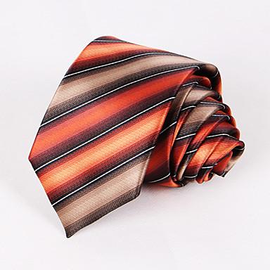 miesten juhla / ilta häät muodollinen oranssi raidallinen polyesteri solmio
