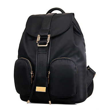 Naisten Kassit Nylon Backpack Matkalaukku Koululaukku varten Kausaliteetti ulko- Kaikki vuodenajat Musta Purppura Sininen