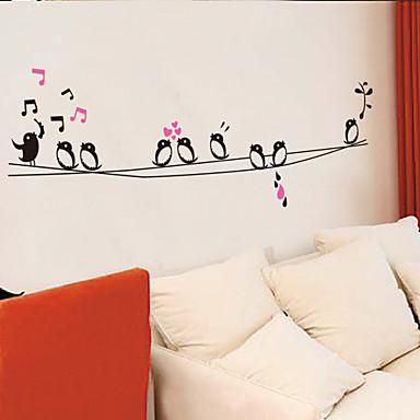 duvar çıkartmaları duvar çıkartmaları tarzı şarkı kuşlar pvc duvar çıkartmaları