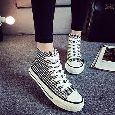 Γυναικεία παπούτσια - Μοντέρνα Αθλητικά - Ύπαιθρος / Καθημερινά - Επίπεδο Τακούνι - Ανατομικό / Στρογγυλή Μύτη - Πανί -Μαύρο / Μπλε /