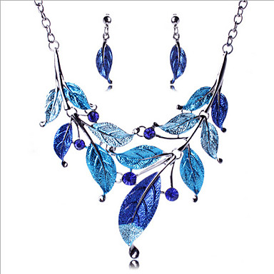 Damen Schmuck-Set Ohrringe / Halsketten - Retro / Party / Modisch Purpur / Blau Schmuckset Für Party / Besondere Anlässe / Jahrestag