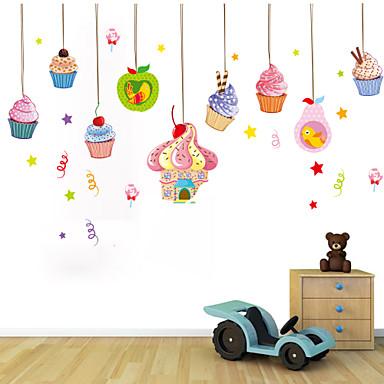 벽 스티커 벽 데칼 스타일 만화 아이들의 아이스크림 PVC 벽 스티커