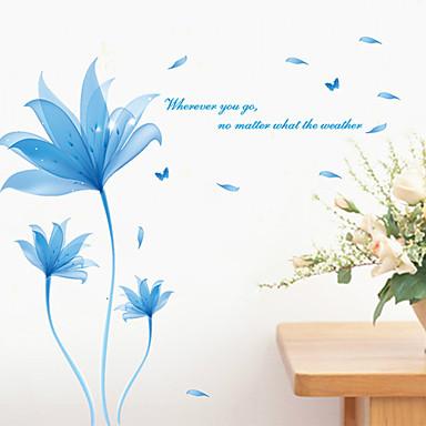 Kasvitieteellinen Maisema Wall Tarrat Lentokone-seinätarrat Koriste-seinätarrat,Vinyyli materiaali Siirrettävä Kodinsisustus Seinätarra