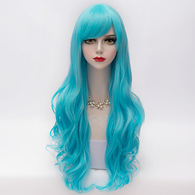 Synthetic Hair Wigs Wavy With Bangs Capless Carnival Wig Halloween Wig Very Long