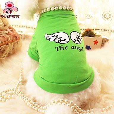 Katze Hund T-shirt Hundekleidung Engel & Teufel Purpur Grün Baumwolle Kostüm Für Haustiere Cosplay Hochzeit
