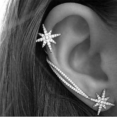 Women's Crystal Ear Cuff / Earrings / Ear Climbers - Rhinestone Star Vintage, Party, Work Screen Color For Daily