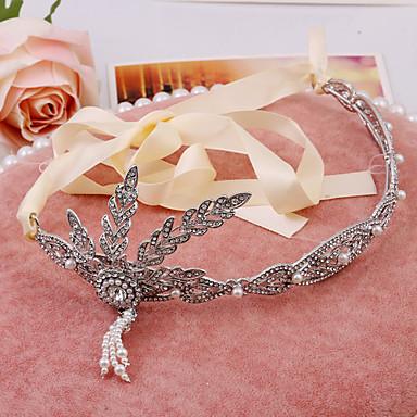 Damen Strass Legierung Künstliche Perle Kopfschmuck-Hochzeit Besondere Anlässe im Freien Tiara 1 Stück