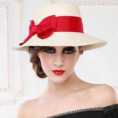 여성 바구니 세공품 투구-캐쥬얼 야외 모자 1개