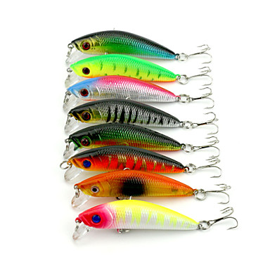 5 Stück kleiner Fisch Angelköder kleiner Fisch Fester Kunststoff Seefischerei Fischen im Süßwasser Spinnfischen
