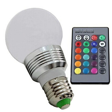 E26/E27 LED Küre Ampuller 1 led Yüksek Güçlü LED Kısılabilir Uzaktan Kumandalı RGB 100-130lm 2700-6500K AC 85-265V