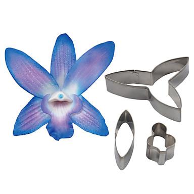 Vier c Dendrobium Orchidee Blütenblatt Blüte Schneider, Kuchen, der Werkzeuge Fondantform Cutter Cookie Zubehör Werkzeuge