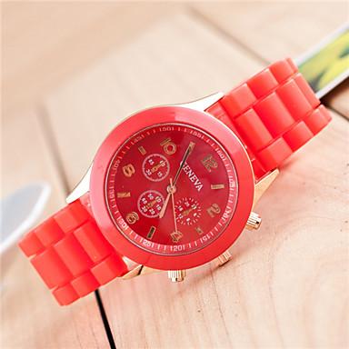 여성용 디지털 손목 시계 스포츠 시계 실리콘 밴드 참