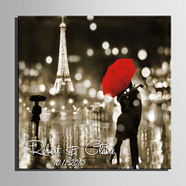 e-home® εξατομικευμένες καμβά υπογραφή αόρατο πλαίσιο εκτύπωσης φιλήσει τη βροχή