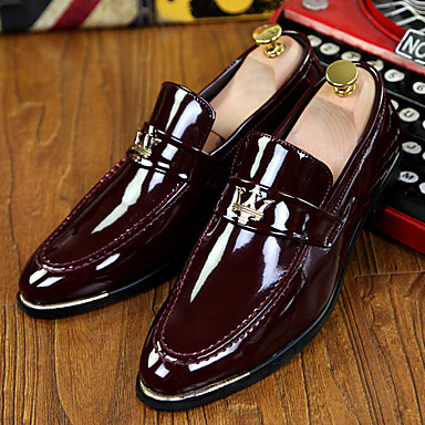 Férfi cipő Lakkbőr Tavasz Ősz Formai cipő Újdonság Kényelmes Papucsok & Balerinacipők Rojt mert Hétköznapi Hivatal és karrier Party és