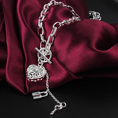 Damen Herz Gestalten Liebe Anhängerketten Sterling Silber Anhängerketten Modeschmuck