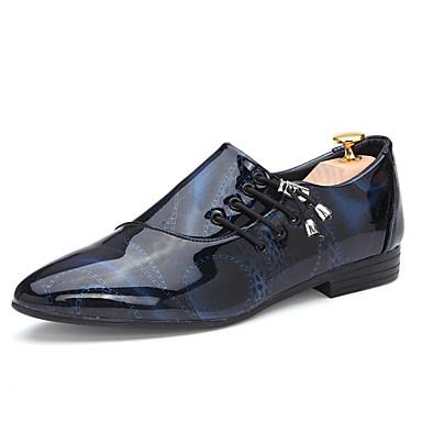 Miesten kengät Tekonahka Kevät Syksy Uutuus Comfort Oxford-kengät Valkoinen Musta Purppura Ruskea Sininen