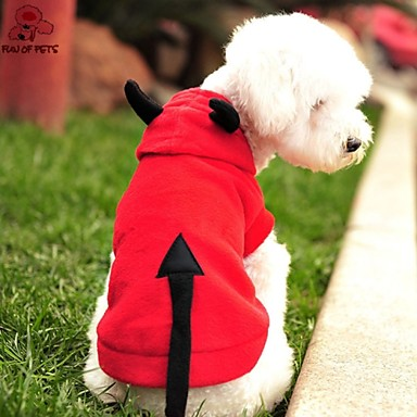 Cat Dog Costume Hoodie Dog Clothes Cute Cosplay Halloween Vampires Red Costume For Pets