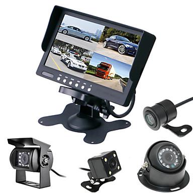 renepai® 7 tommers 4 in1 hd skjerm + buss 170 ° hd bil ryggekamera vanntett kamera kabellengde 6m, 10m, 16m, 20m,