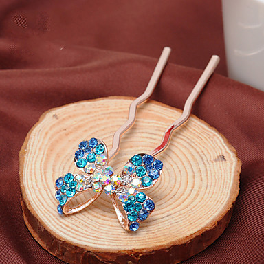 Women's Rhinestone/Alloy Headpiece - Special Occasion/Casual Bowknot Hair Pin 1 Piece