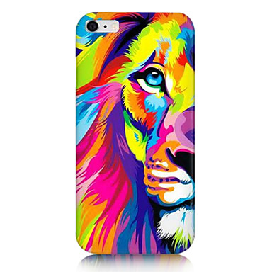 iphone 6s 6 renkli aslan geri desen harf artı