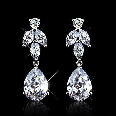 Naušnica Viseće naušnice Jewelry 1pc Kubični Zirconia Žene Srebrna