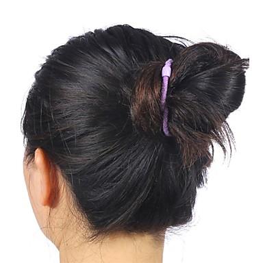 2015 uusi muoti synteettinen elastinen morsiamen hiukset pulla hiukset nuttura rulla irtoletit synteettiset pulla hiuslisäke clip
