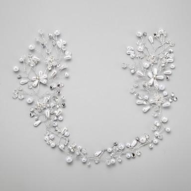 Krystall Imitert Perle Strass Legering blomster 1 Bryllup Spesiell Leilighet Hodeplagg