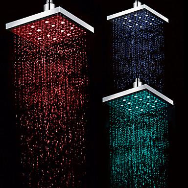 Σύγχρονο Μόνο Ντουζιέρα Ντουζιέρα Βροχή LED Χρώμιο, Βρύση Ντουζιέρας