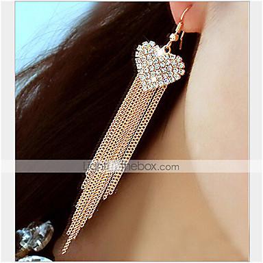Damen Tropfen-Ohrringe Luxus Quaste Klassisch Liebe Romantisch Strass Diamantimitate Aleación Herz Schmuck Party Alltag Modeschmuck