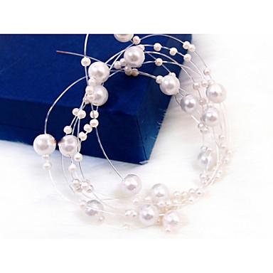 abordables Coiffes-Imitation de perle Chaîne de tête avec 1 Mariage / Occasion spéciale Casque