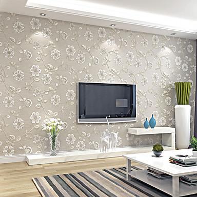 Λουλουδάτο Ταπετσαρία Σύγχρονο Κάλυψης τοίχων,Μη υφαντό Χαρτί Ναι
