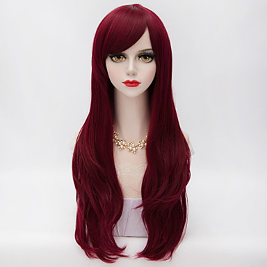 Synthetic Wig Curly Layered Haircut / With Bangs Synthetic Hair Wig Women's Long Capless