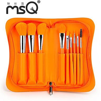 бренд msq®9pcs новые Заезды оранжевый макияж щетки