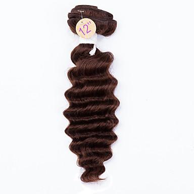 İnsan saç örgüleri Düz Brezilya Saçı Derin Dalga 12 ay saç örgüleri