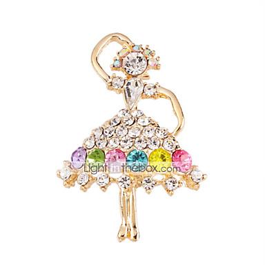 imitação de diamante Jóias de Luxo Arco-Íris Jóias Casamento Festa Ocasião Especial Aniversário