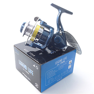 Fishing Reel Spinning Reels 5.1:1 Gear Ratio+4 Ball Bearings Exchangable Bait Casting Ice Fishing Spinning Freshwater Fishing Other