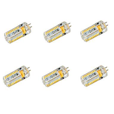 YWXLIGHT® 6pcs 650 lm G4 LED Mısır Işıklar T 72 led SMD 3014 Sıcak Beyaz Serin Beyaz DC 24V AC 24V AC 12V DC 12V