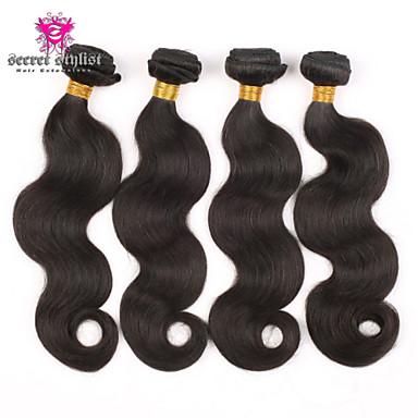 Μογγολική Κυματομορφή Σώματος Υφάνσεις ανθρώπινα μαλλιών 4 Κομμάτια 0.4