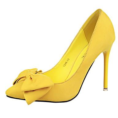 Γυναικεία παπούτσια - Γόβες - Φόρεμα - Τακούνι Στιλέτο - Με Τακούνι / Μυτερό / Κλειστή Μύτη - Φο Σουέτ -Μαύρο / Μπλε / Κίτρινο / Ροζ /