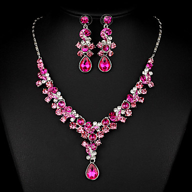 a4ecad5a935 Women s White Cubic Zirconia Jewelry Set Cubic Zirconia Include Fuchsia For  Wedding Party Special Occasion Anniversary Engagement