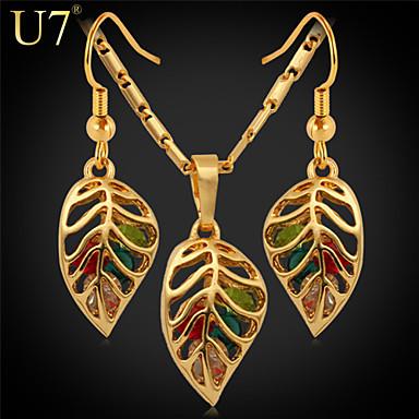 Women's Synthetic Diamond Imitation Diamond Cute Drop Jewelry Set Earrings / Necklace - Vintage / Party / Work Gold / Silver Jewelry Set