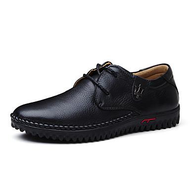Herren Outdoor Komfort Leuchtende Sohlen formale Schuhe Tauchschuhe Echtes Leder Nappaleder Leder Frühling HerbstHochzeit Sportlich