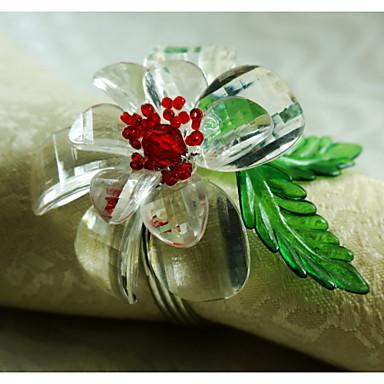 Kwiat Akrylowy Pierścień Serwetka Wysoka jakość Dekoracje stołowe