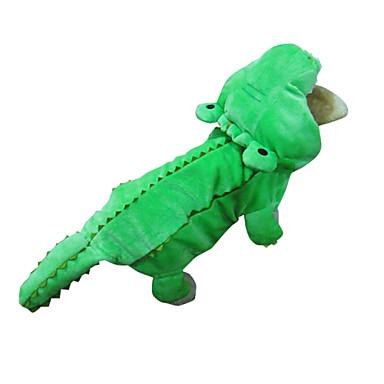Собака Костюмы Инвентарь Толстовки Одежда для собак Животное Зеленый Хлопок Костюм Для домашних животных Муж. Жен. Косплей Хэллоуин