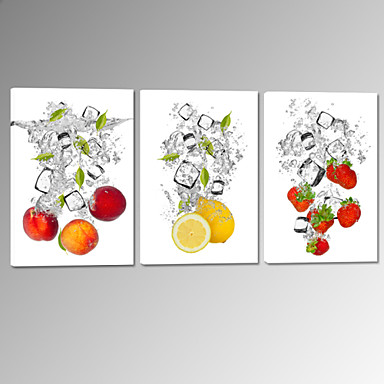 οπτική star®fruit στο νερό τεντωμένο καμβά εκτύπωση φράουλα λεμόνι εικόνα τοίχο έτοιμος να κρεμάσει