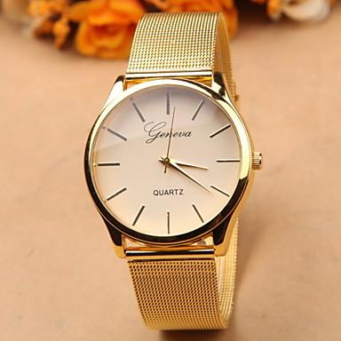 baratos Relógios Homem-Geneva Mulheres Relógio de Pulso Quartzo Dourada Venda imperdível Analógico Amuleto Fashion Relógio simples