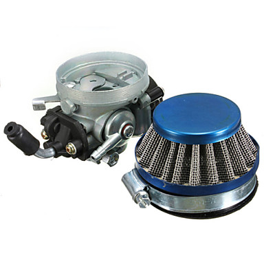 Carb Carburetor+Air Filter For 2 Stroke Motorized Pocket Bike Mini Motor
