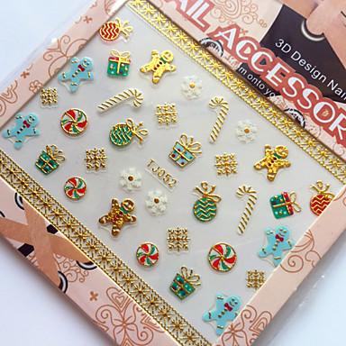 3D Nail Stickers - Muuta - Sarjakuva / Abstrakti / Lovely - Sormi - 9.5X6.5X0.1 - 1